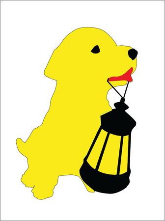 lap dog: Small dog Illustration