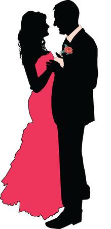 heterosexual couple: Dancing couple
