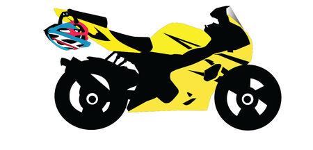 throttle: Sport Motorbike Illustration