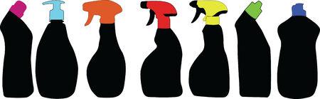detergent: Detergent silhouettes Illustration