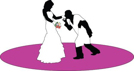 Marriage proposal illustration vector Vector
