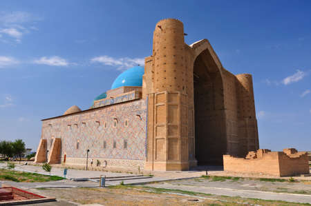 mausoleum: Mausoleum, mosque of Khoja Ahmed Yasavi in Turkestan, Kazakhstan Stock Photo