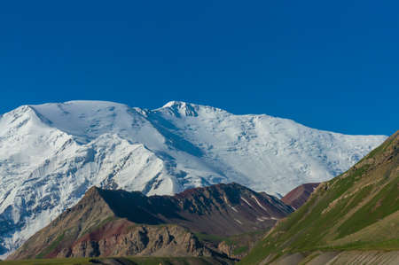 View of Lenin Peak and a delightful mountain landscape