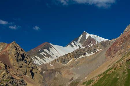 Amazing views of the mountain scenery near Lenin Peak