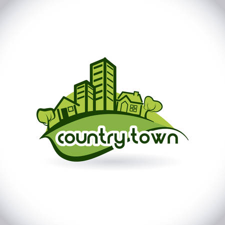 hometown: Home estate design over white background, vector illustration Illustration