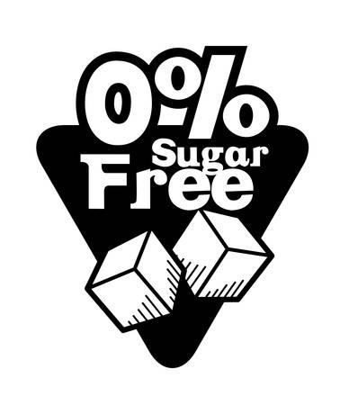 white sugar: Sugar free over white background, vector illustration