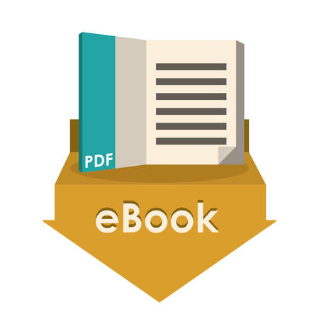 arow: eBook design over white background, vector illustration