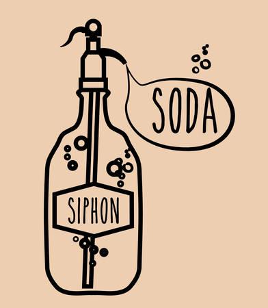 siphon: Drinks design over beige background, vector illustration Illustration
