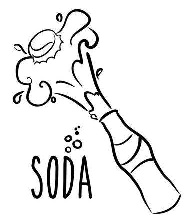 soda splash: Drinks design over white background, vector illustration