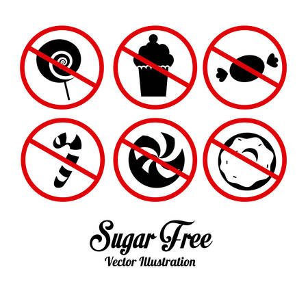 Sugar free design over white background, vector illustration Vector
