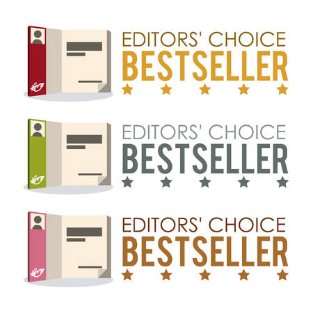 editors: Book design over white background, vector illustration