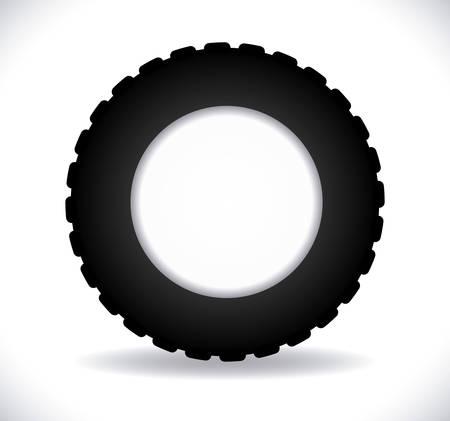 tire print: Tire design over white background, vector illustration