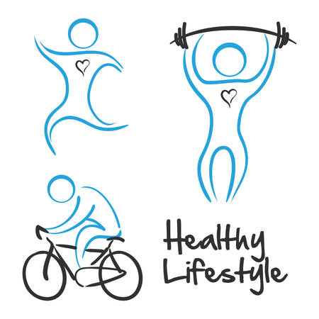 Fitness design over white background, vector illustration Çizim