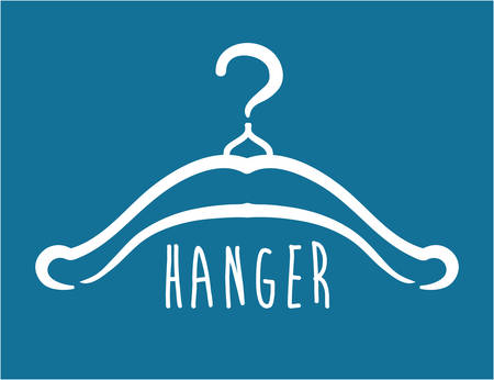 Hanger design over blue background, vector illustration Vector