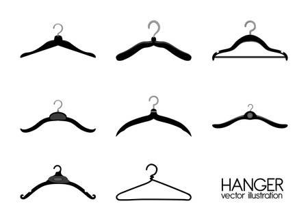 Hanger design over white background, vector illustration Vector
