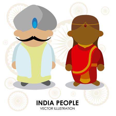 India design over white background, vector illustration