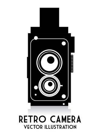 retro camera: Camera design over white background, vector illustration