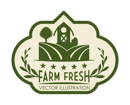 seeding: Farm design over white background, illustration