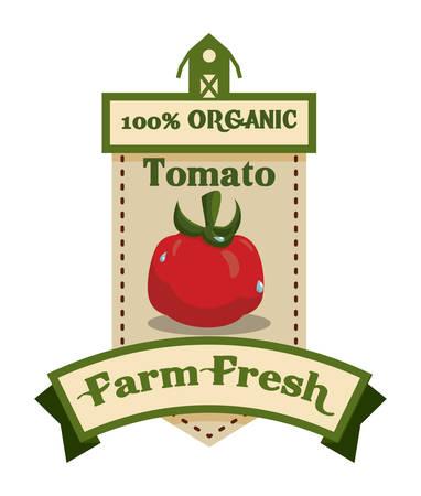 Farm design over beige background, illustration