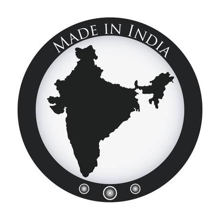 India design over white background, illustration Vector
