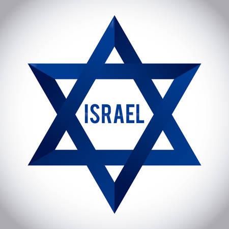 jews: Israel design over white background, vector illustration