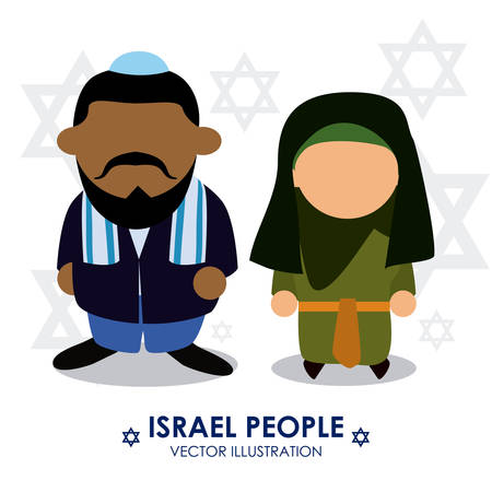jews: Israel design over white background, illustration