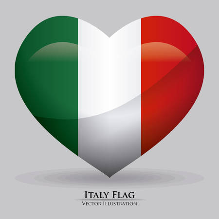 Italy design over gray background, illustration Vector