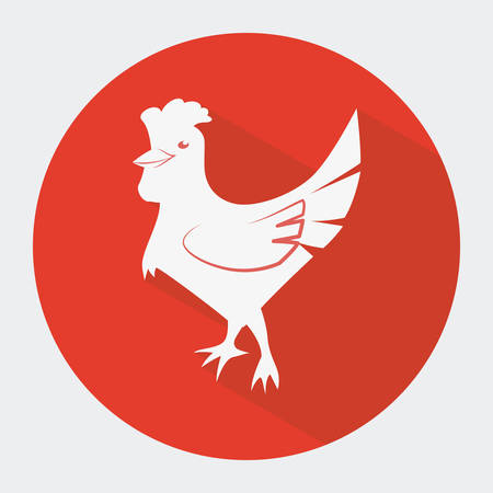chiken: Food design over white background, illustration Illustration