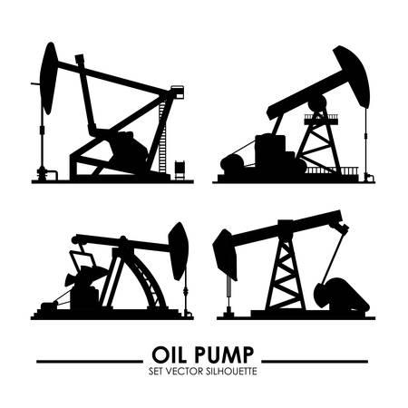 machine oil: Industry design over white background, illustration Illustration