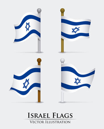 jews: Israel design over white background, illustration