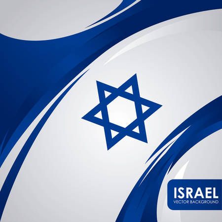 Israel design over white background, illustration Vector