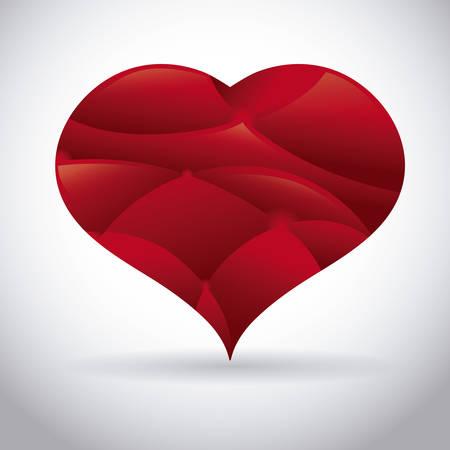 Heart design over gray background, vector illustration Illusztráció