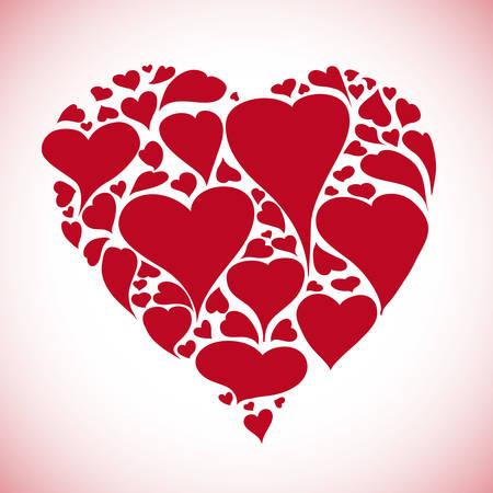 Heart design over pink background, vector illustration