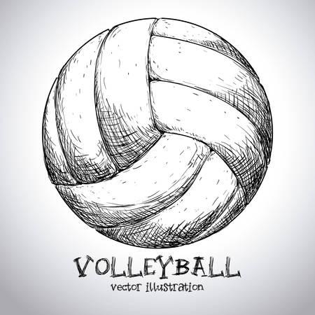 balon voleibol: diseño del voleibol sobre fondo gris ilustración vectorial