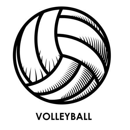 balon de voley: diseño del voleibol sobre fondo blanco ilustración vectorial