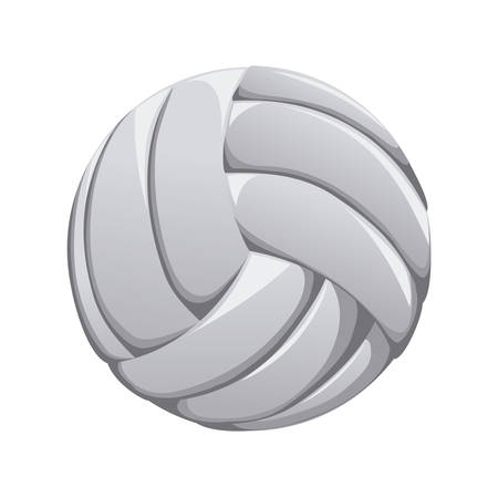balon voleibol: dise�o del voleibol sobre fondo blanco ilustraci�n vectorial