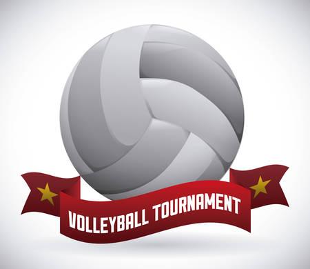 balon de voley: dise�o del voleibol sobre fondo gris ilustraci�n vectorial