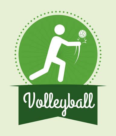 balon de voley: diseño del voleibol sobre fondo verde ilustración vectorial Vectores