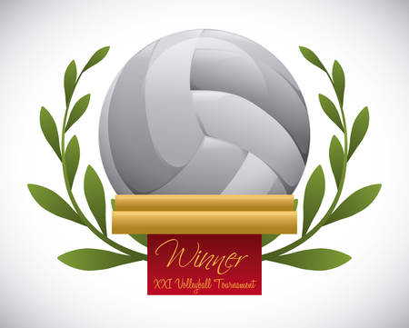 love: volleyball design ove gray background vector illustration