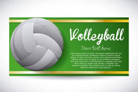 balon voleibol: dise�o del voleibol sobre fondo gris ilustraci�n vectorial
