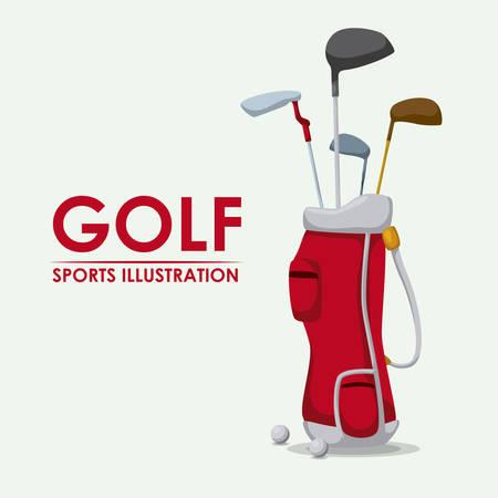 Golf-Design auf weißem Hintergrund Vektor-Illustration Illustration