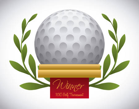 golf design over  gray background vector illustration Ilustrace