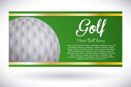 golf ontwerp over grijze achtergrond vector illustratie