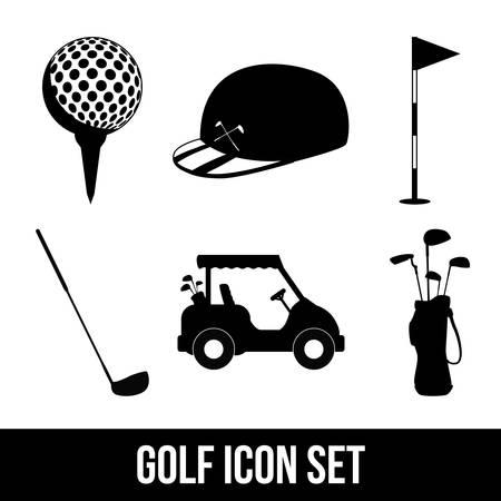 golf design over white  background vector illustration Vector