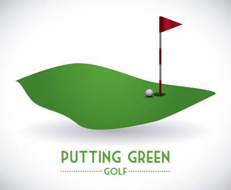 golf design over gray background vector illustration Vector