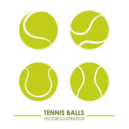 Tennisentwurf über weißem Hintergrund Vektor-Illustration Vektorgrafik