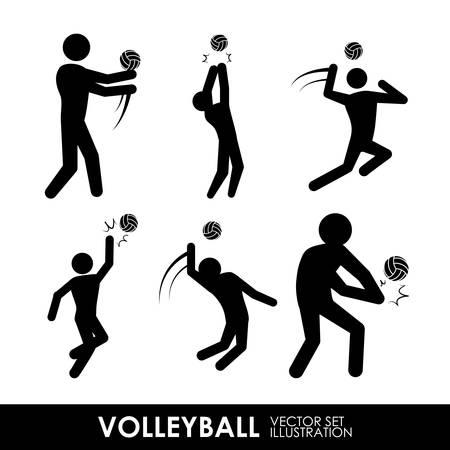 balon de voley: dise�o del voleibol sobre fondo blanco ilustraci�n vectorial