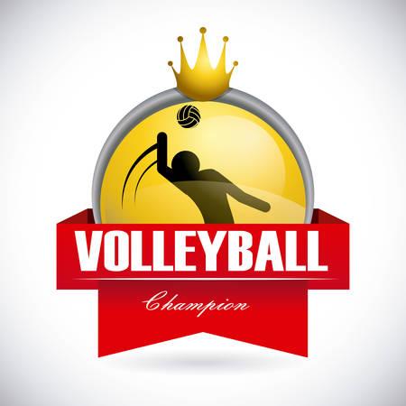 balon de voley: diseño del voleibol sobre fondo gris ilustración vectorial