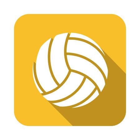 balon de voley: diseño del voleibol sobre fondo amarillo ilustración vectorial Vectores