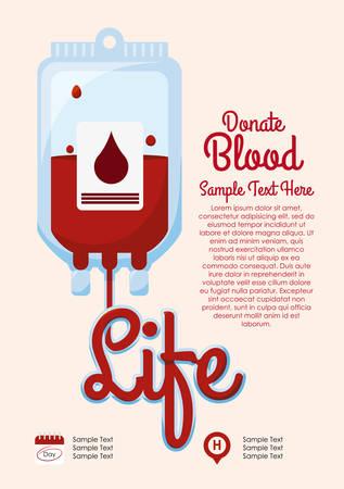 blood supply: medical design over pink background vector illustration